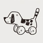 stock photo of toy dogs  - Dog Toy Doodle - JPG