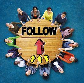 foto of follow-up  - Follow Follower Following Connecting Networking Social Concept - JPG