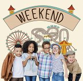 Постер, плакат: Weekend Enjoy Greeting Sunday Saturday Relax Concept