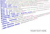 Stylesheet source code listing - technology background