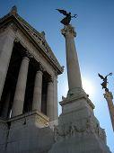 pic of mussolini  - il vittoriano vertical columns rome italy europe  - JPG