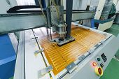 Milling Engraving Machine. The Machine Cuts Blanks For Electronic Printed Circuit Boards. poster