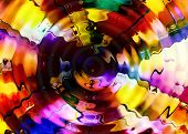 Abstract Multicolor Luminous Background With Swirling And Movement poster