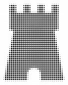 Bulwark Tower Halftone Vector Pictogram. Illustration Style Is Dotted Iconic Bulwark Tower Icon Symb poster