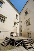 pic of gallows  - Vintage gallow in the corner of an old castle - JPG