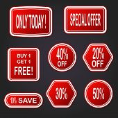 Sale Vector Banner. Sale Sticker.special Offer Sale Sticker In Flat Style. Discount Tag. Special Off poster