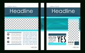 Editable Vector. A4 Business Book Cover Layout Design Template For Portfolio, Brochure, Annual Repor poster