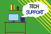 Word Writing Text Tech Support. Business Concept For Advising And Troubleshooting Service Provided B poster