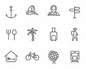 Travel And Tourism Outline Icon Set. For Web, Mobile And Ui Design Travel And Tourism Vector Icons I poster