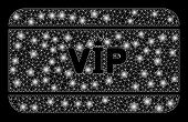 Glowing Mesh Vip Access Card With Lightspot Effect. Abstract Illuminated Model Of Vip Access Card Ic poster