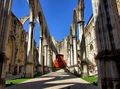 image of carmelite  - Old Carmo Church ruins in Lisbon Portugal - JPG