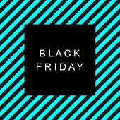 Black Friday Sale Banner. Text Black Friday On A Black Square On A Background Of Abstract Lines In B poster