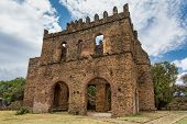 Fasil Ghebbi, Royal Fortress-city Within Gondar, Ethiopia. Founded By Emperor Fasilides. Imperial Pa poster