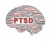 ptsd symbol isolated on white background
