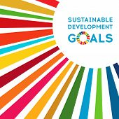 Sustainable Development Global Goals. Corporate Social Responsibility. poster