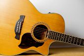 Acoustic Guitar That Is Classic And Beautiful poster