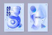 Blue Hipster Memphis Brochure. Vibrant Flow Shape. Wave Banner. Modern Business Template. Hipster Me poster