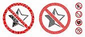 No Rating Star Mosaic Of Ragged Items In Variable Sizes And Shades, Based On No Rating Star Icon. Ve poster