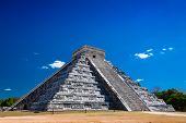 image of ziggurat  - a Ziggurat in Chichen Itza Yucatan Mexico - JPG