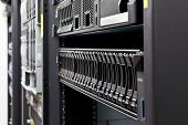 picture of mainframe  - Network servers hdd in a data center - JPG