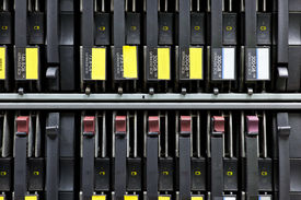 foto of supercomputer  - Network servers hdd in a data center - JPG