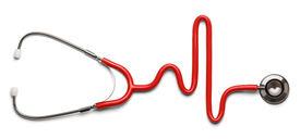 pic of ekg  - Stethoscope in the shape of a Heart Beat on a EKG - JPG