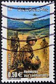 FRANCE - CIRCA 2004: A stamp printed in France tribute to the combatants in the Vietnam War