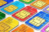image of micro-sim  - Creative abstract mobile telecommunication wireless technology and mobility business concept - JPG