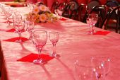 stock photo of banquette  - banket banquet banquette blossom bumper chair cloth - JPG