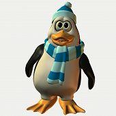image of feeling stupid  - 3d penguin - JPG