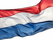 picture of holland flag  - The Holland flag on a white background - JPG
