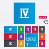 image of roman numerals  - Roman numeral four sign icon - JPG
