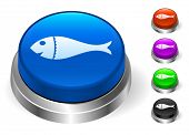 Fish Icons on Round Button Collection