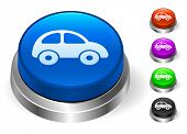 Car Icons on Round Button Collection