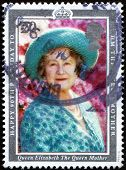 UNITED KINGDOM - CIRCA 1990:  Postage Stamp celebrating  90th Birthday of Queen Mother, circa 1990