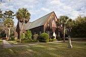The historic Church of the Cross was built in Bluffton, South Carolina in 1854.  It remains a popula