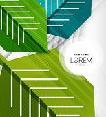 Textured geometric shapes - abstract business composition