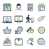 Shopping icons set 02