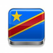 Metal  icon of Democratic Republic of the Congo