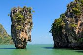 The James Bond island,  Khao Phing Kan in the pang Nga bay in Thailand