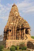 foto of khajuraho  - One of the temples in Khajuraho of India - JPG
