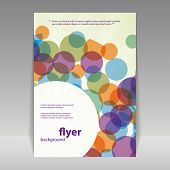 Flyer or Cover Design with Abstract Circles Pattern
