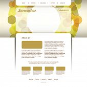 Website Template with Abstract Header Design - Circles