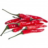 red hot pepper paprika heap pile isolated on a white background