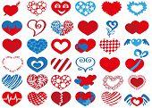 pic of broken heart flower  - Image icons in heart shape on white background - JPG