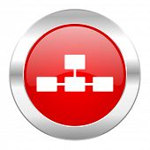 image of cisco  - database red circle chrome web icon isolated  - JPG