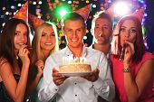 stock photo of club party  - Birthday party in club - JPG
