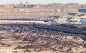 stock photo of open-pit mine  - Open pit - JPG