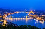 pic of illuminating  - Danube River - JPG