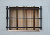 image of revenge  - close up of a window with metal grill - JPG